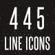 445 Line Icons - GraphicRiver Item for Sale