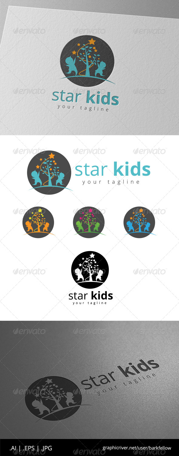 GraphicRiver Star Kids Logo 8646243