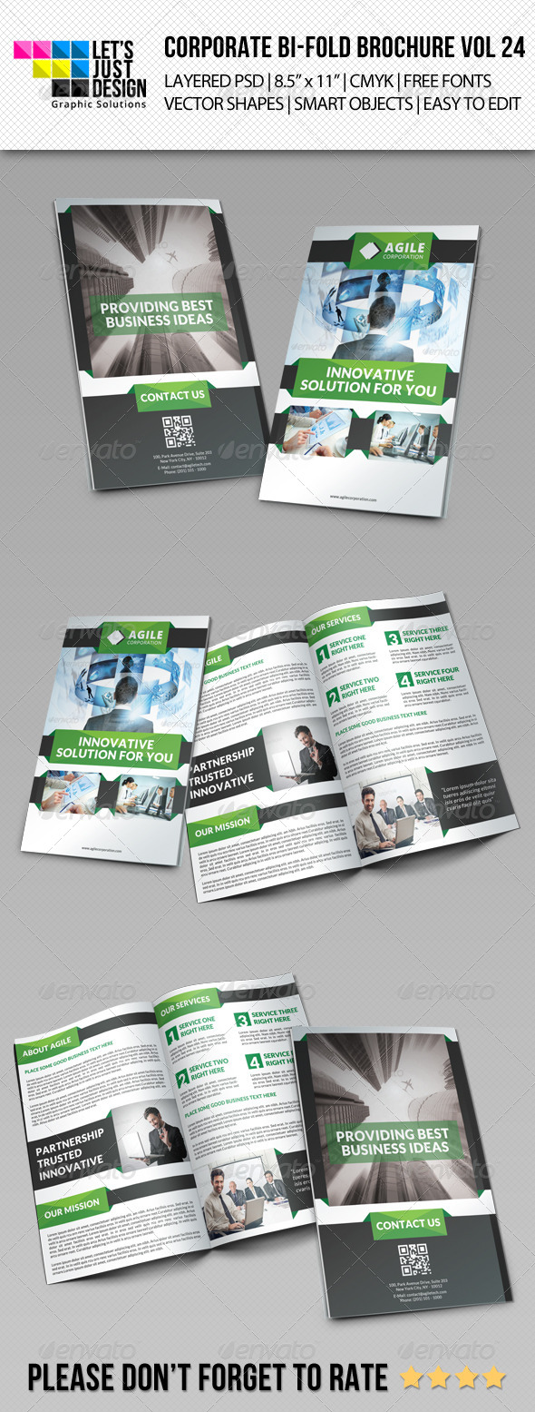 GraphicRiver Creative Corporate Bi-Fold Brochure Vol 24 8646246