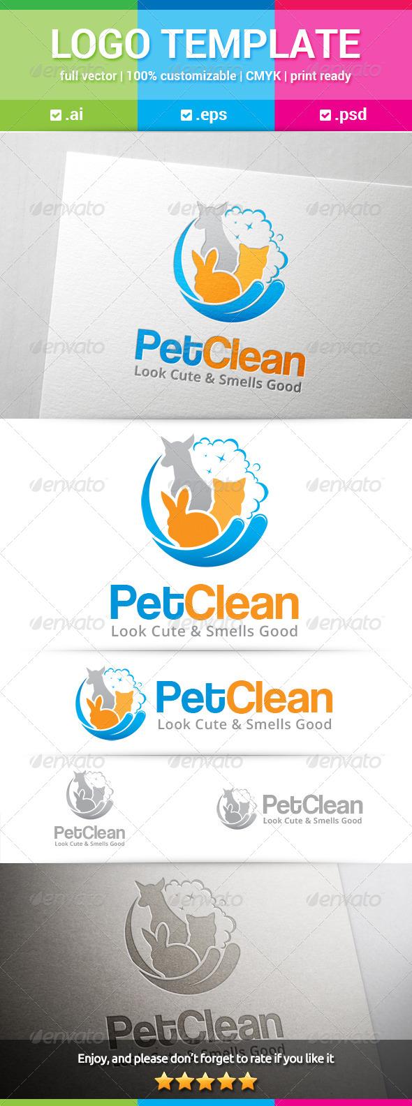 GraphicRiver Pet Clean Logo 8646257