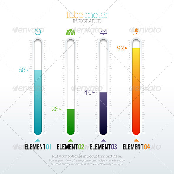 GraphicRiver Tube Meter Infographic 8646302