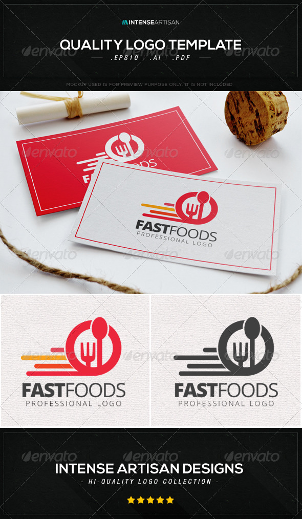GraphicRiver Fast Foods Logo Template 8646321