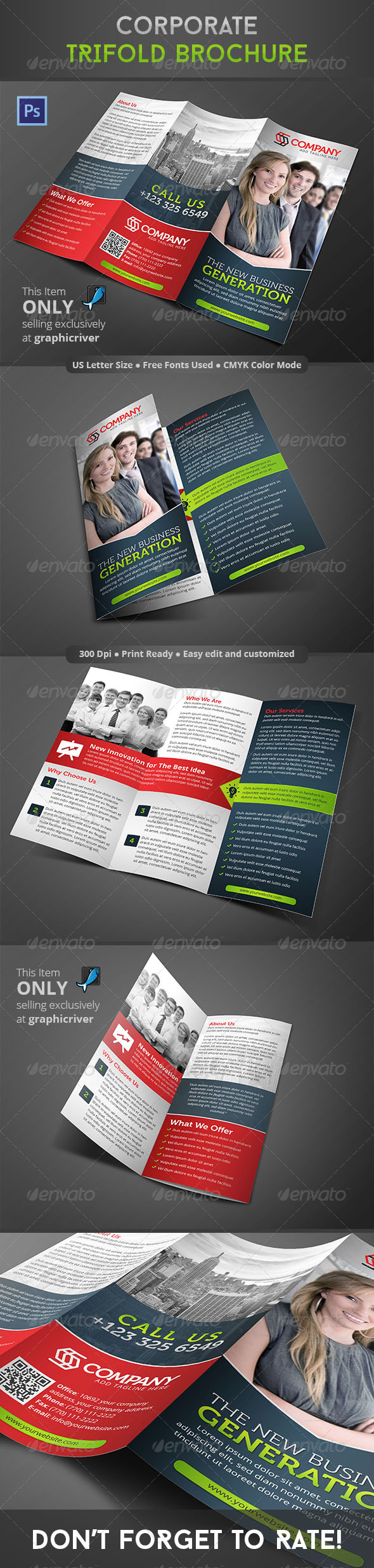 GraphicRiver Corporate Trifold Brochure 8646339