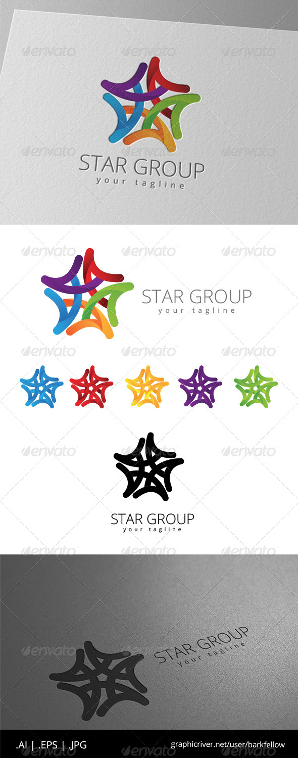 GraphicRiver Star Group Company Logo 8646385