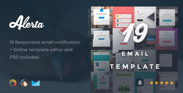 ThemeForest Alerta 19 Responsive Email Notification 8646391