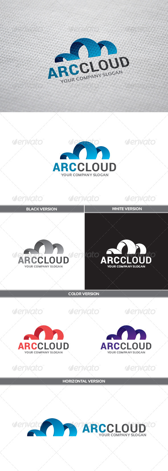 GraphicRiver ArcCloud Logo 8646423