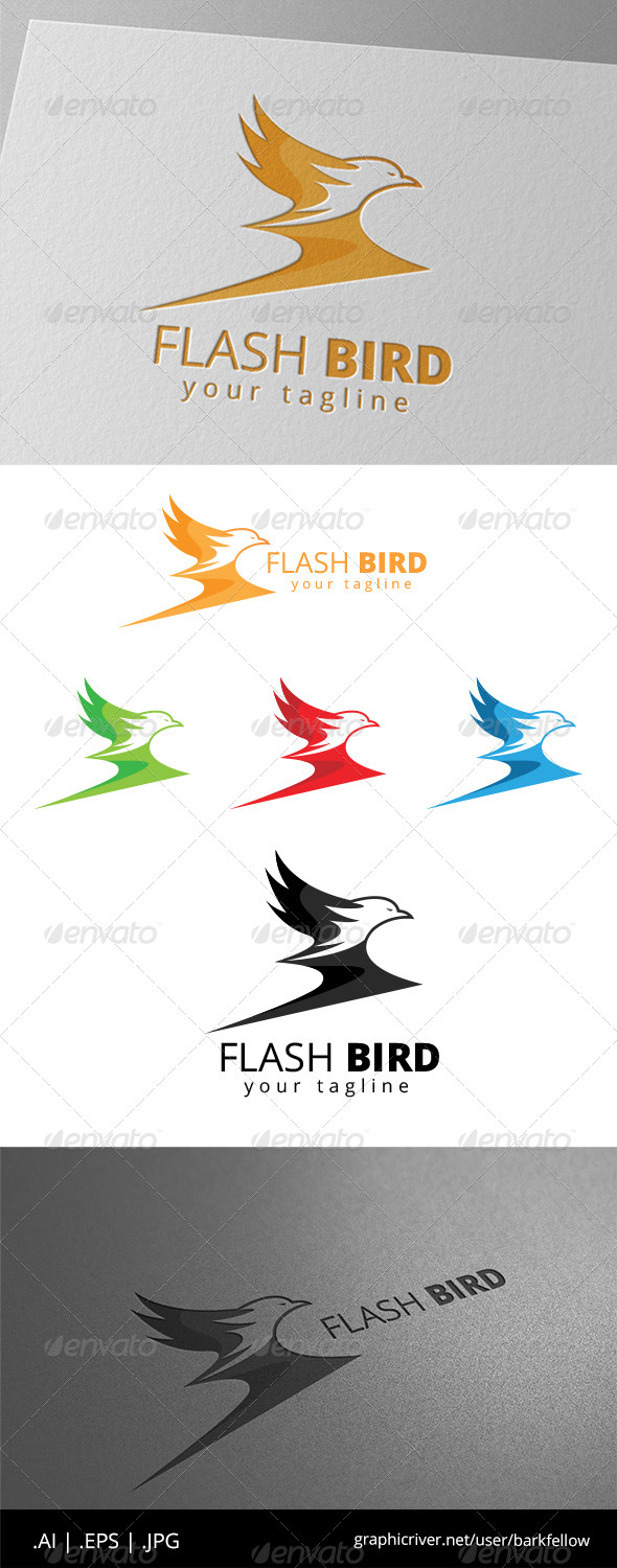 GraphicRiver Flash Eagle Bird Logo 8646519
