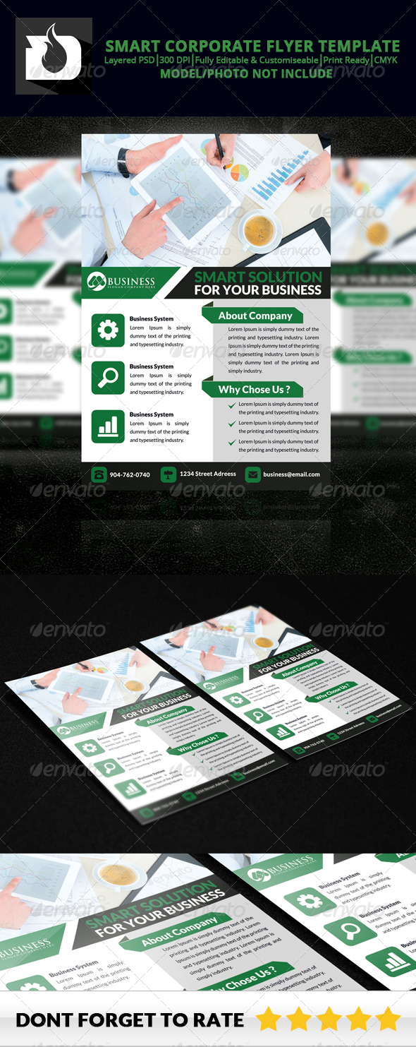 GraphicRiver Smart Corporate Flyer Template V3 8646535
