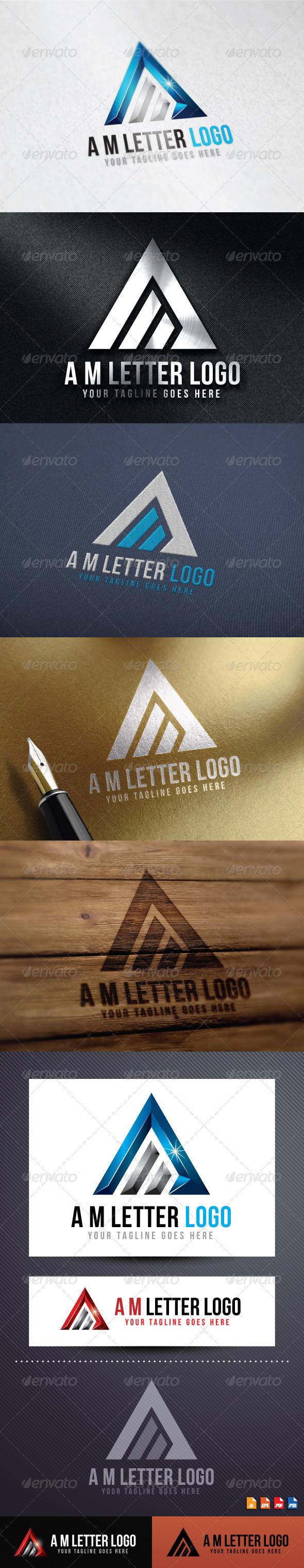 GraphicRiver A M Letter Logo 8646538