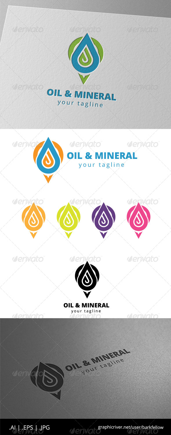 GraphicRiver Oil Water Mineral Logo 8646556