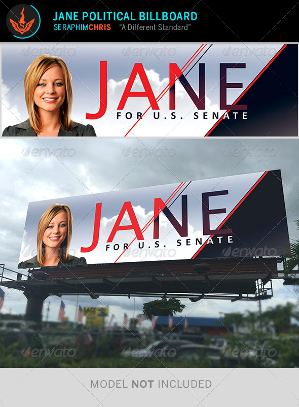 GraphicRiver Jane Political Billboard Template 8646588