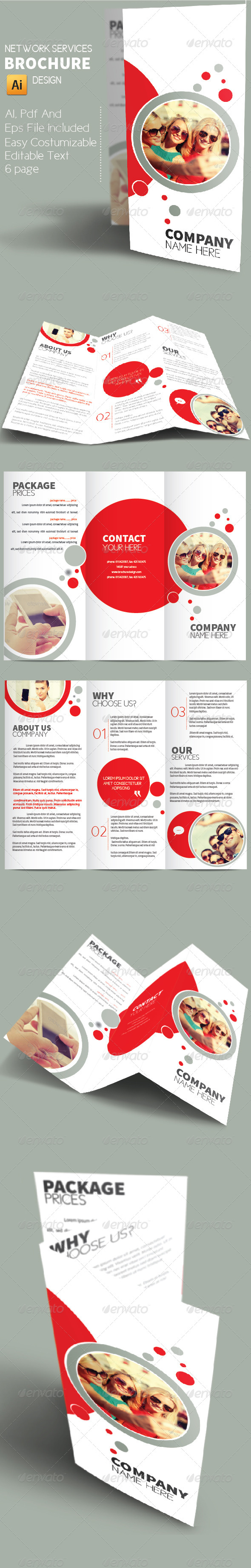 GraphicRiver Network Services Brochure Design 8646605