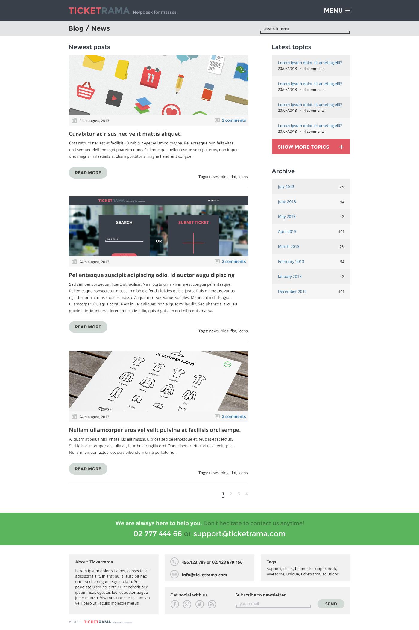 Ticketrama - Wordpress Helpdesk   Ticket   Support