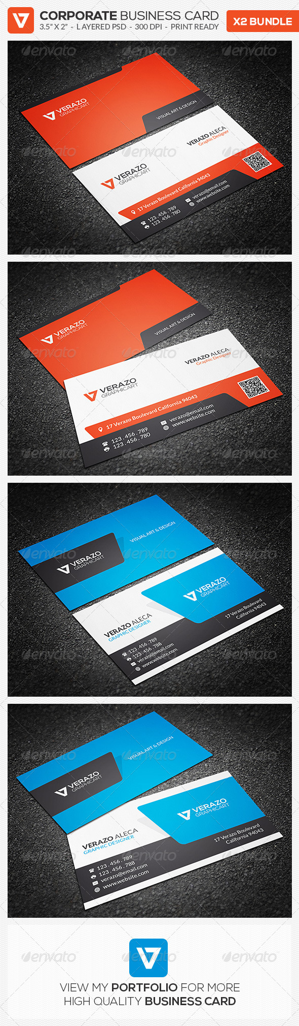GraphicRiver Business Card Bundle 07 8646645
