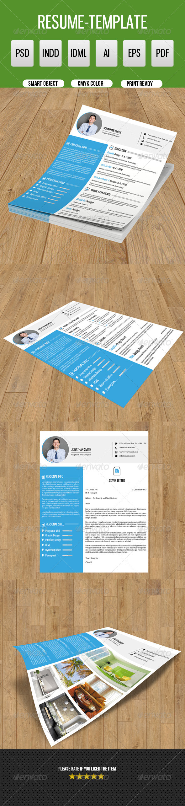 GraphicRiver Clean Resume Template-V09 8646656