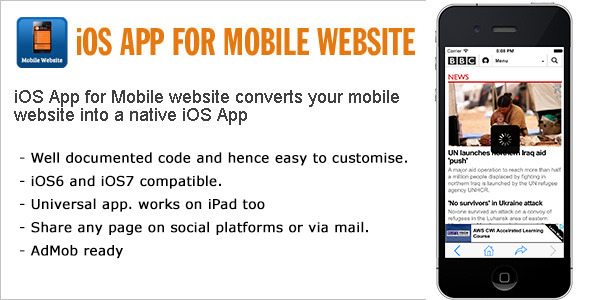 CodeCanyon iOS App for Mobile Website 8646785