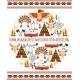 Seamless Colored Tribal American Badge Label - GraphicRiver Item for Sale