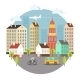 Beautiful Colored Vector City Street Design - GraphicRiver Item for Sale