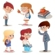 Vintage Style Characters School Children Set - GraphicRiver Item for Sale