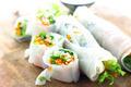 Portion of spring rolls on wood - PhotoDune Item for Sale