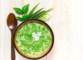 Thai dessert, rice noodles made of rice eaten with coconut milk - PhotoDune Item for Sale