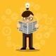 Vector Businessman Reading Newspaper - GraphicRiver Item for Sale