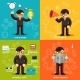 Businessmen Icons in Variety Colored Backgrounds - GraphicRiver Item for Sale