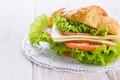 croissant sandwich - PhotoDune Item for Sale
