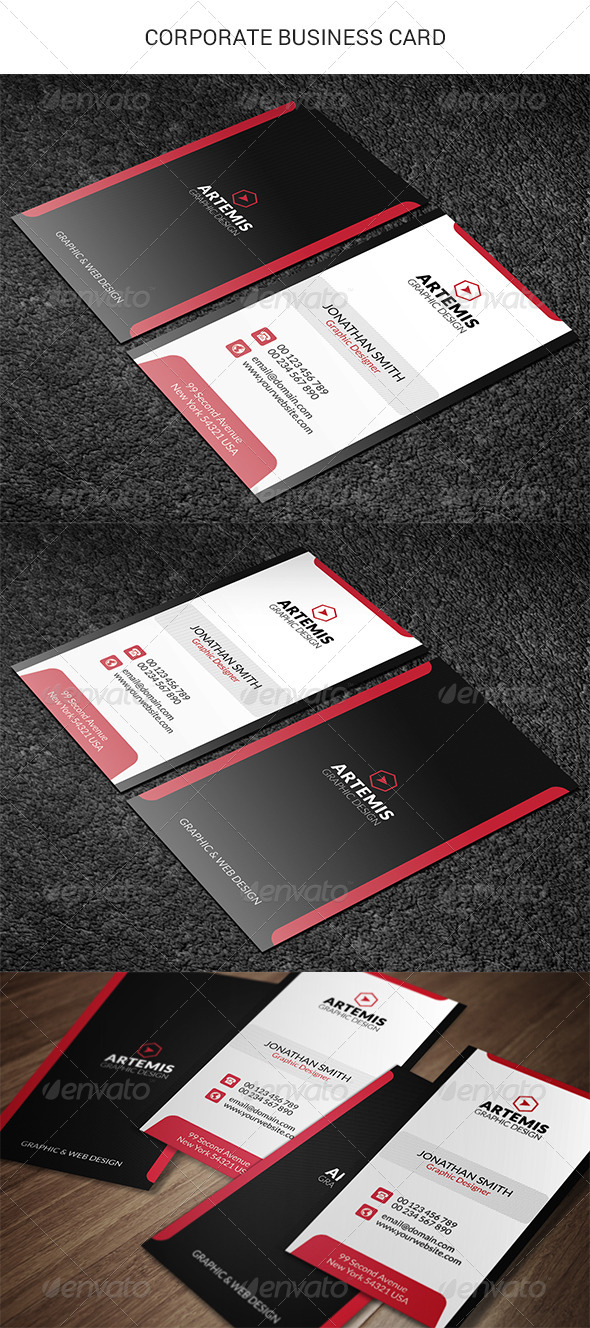 GraphicRiver Corporate Business Card 8646813