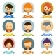 Office Cartoon Character Avatars with Ribbons - GraphicRiver Item for Sale
