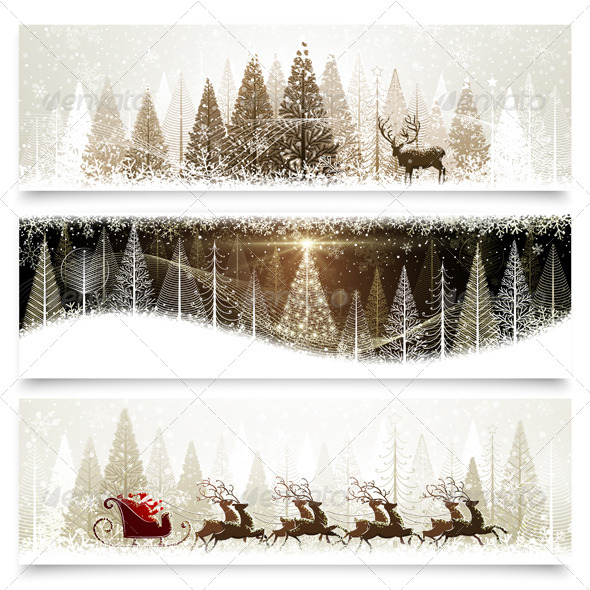 GraphicRiver Christmas Banners 8647924