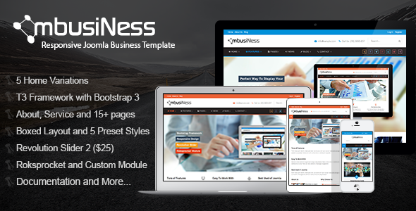 ThemeForest MbusiNess Responsive Joomla Business Template 8594939