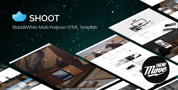 ThemeForest Shoot Black & White Multi-Purpose HTML Template 8560819
