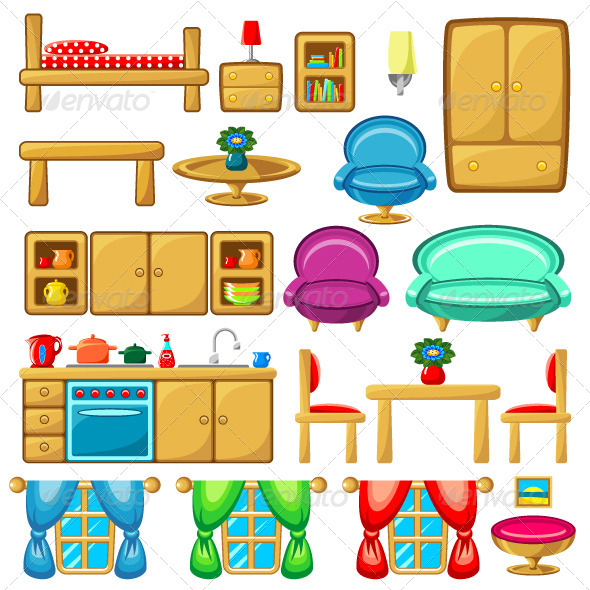 GraphicRiver Set of Furniture 8652188