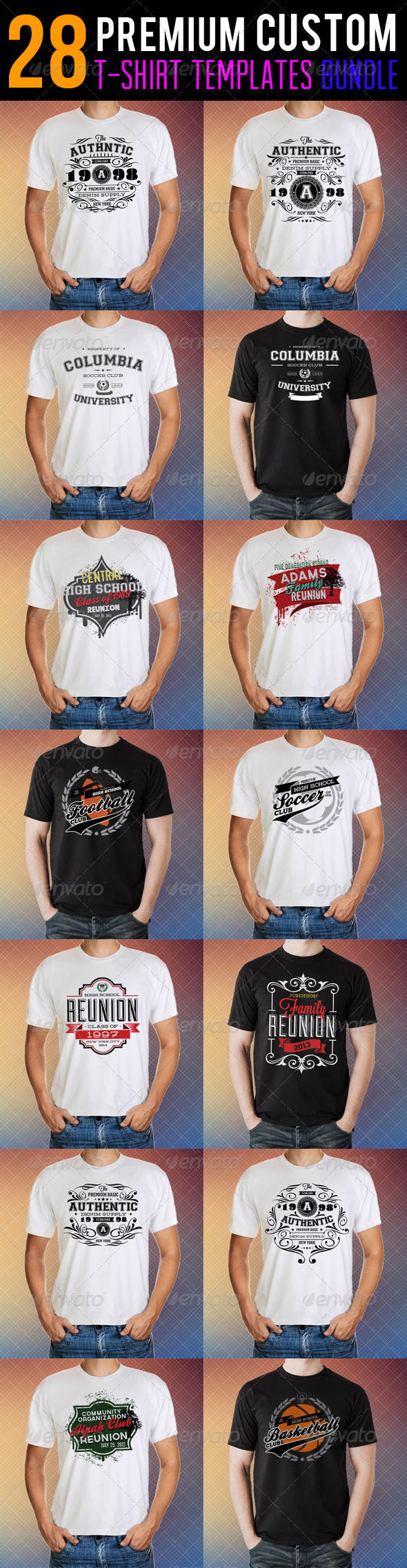 GraphicRiver Premium T-Shirt Templates Bundle 8652439