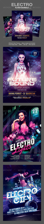 GraphicRiver Electro Party Flyer Bundle Vol.07 8653322