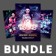 Electro Party Flyer Bundle Vol.07 - GraphicRiver Item for Sale