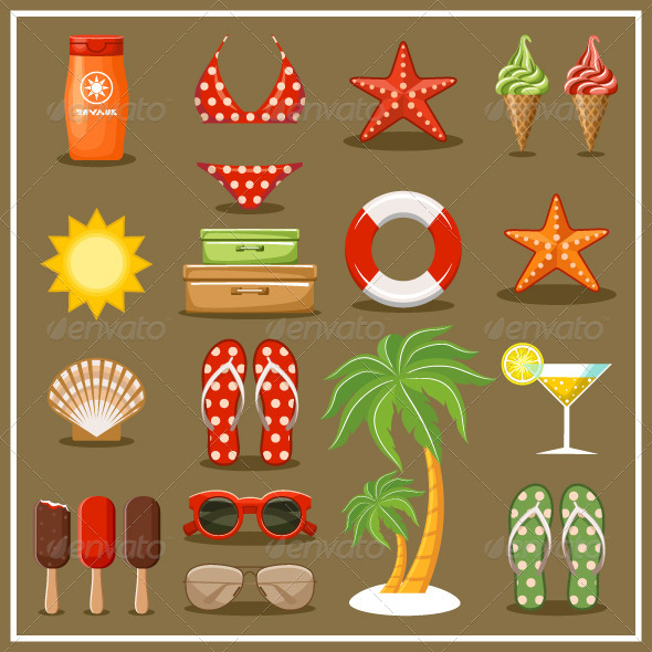 GraphicRiver Summer Beach Set 8653854