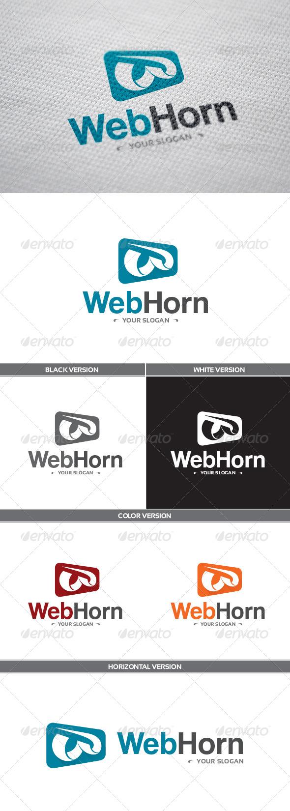 GraphicRiver WebHorn Logo 8654456