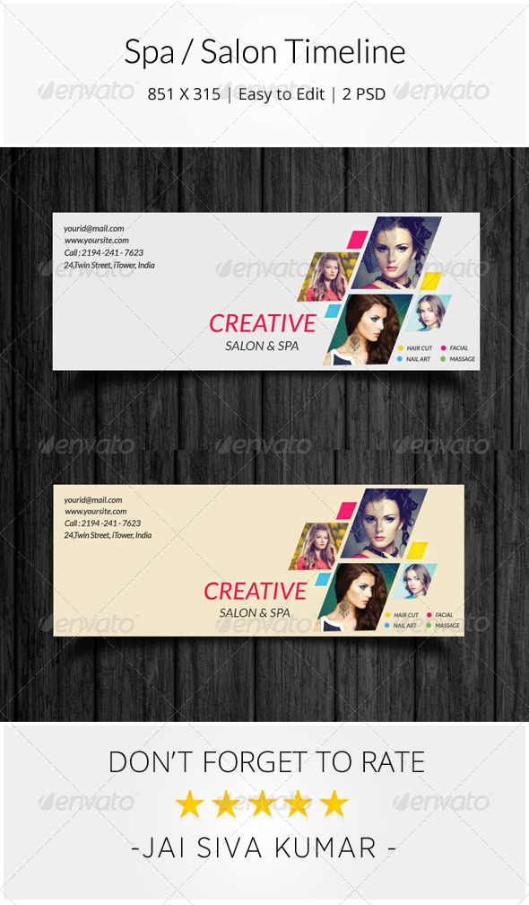 GraphicRiver Spa Salon Facebook Timeline 8654472