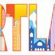 Portland Oregon Skyline Text Outline Color Illustration - PhotoDune Item for Sale