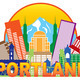 Portland Oregon Skyline Circle Color Illustration - PhotoDune Item for Sale