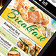 Light Breakfast Poster Template - GraphicRiver Item for Sale