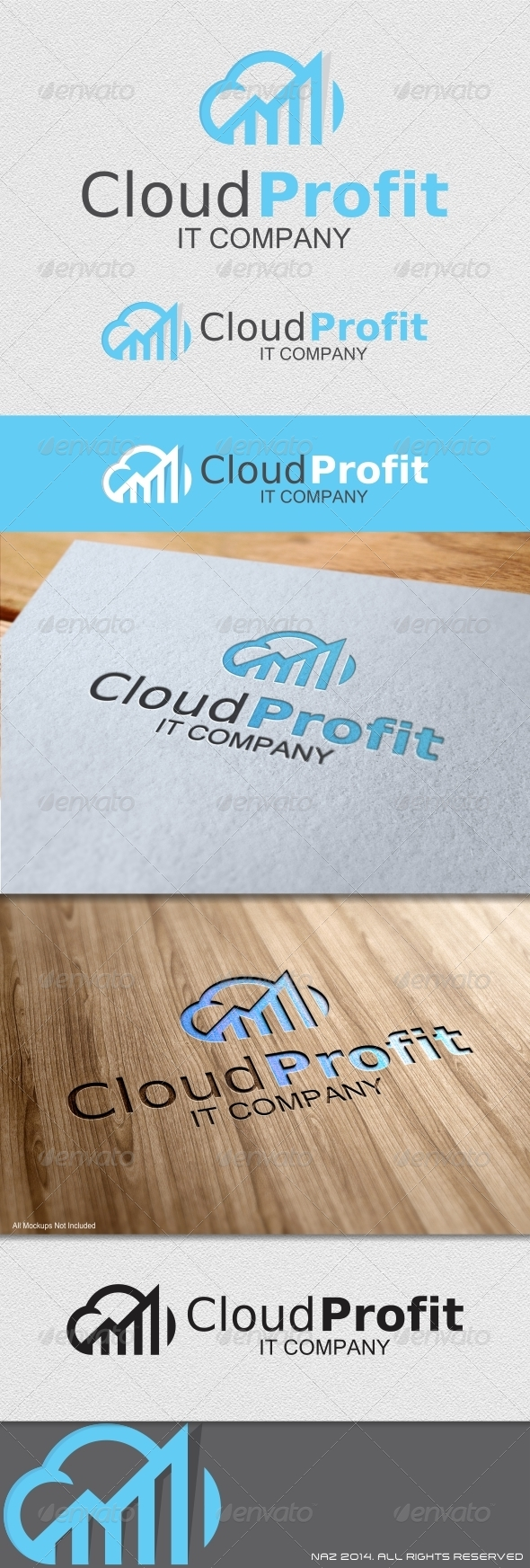 GraphicRiver Cloud Provit Logo 8654489