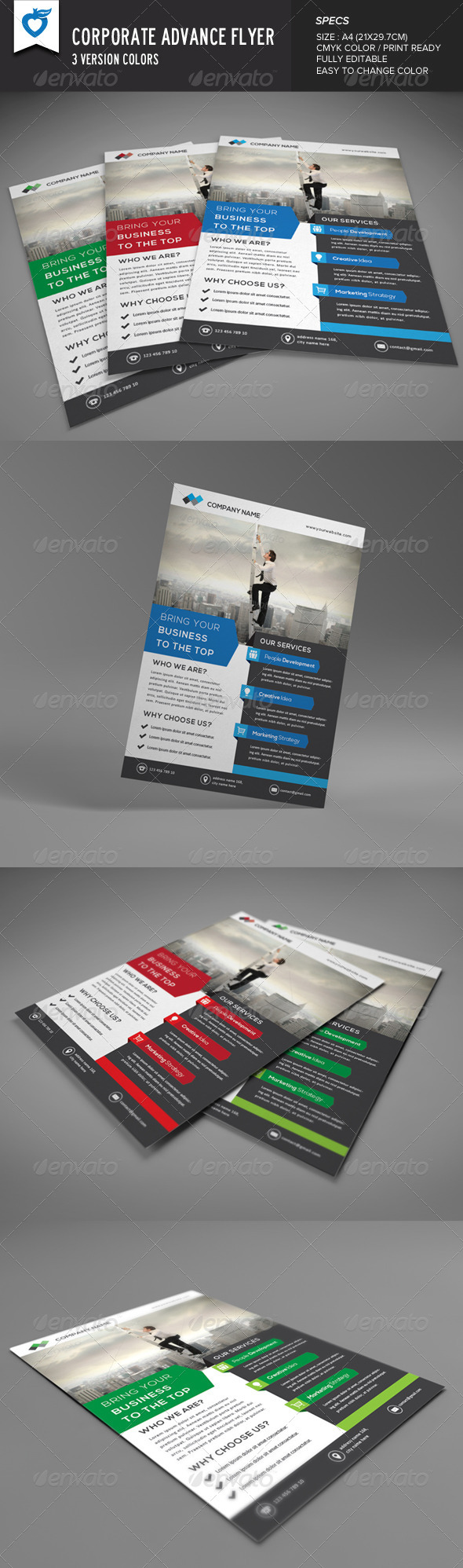 GraphicRiver Corporate Advance Flyer 8654497