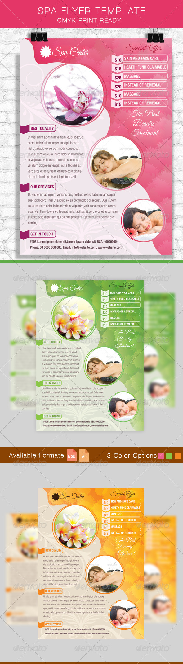GraphicRiver Spa Flyer Template 8640321