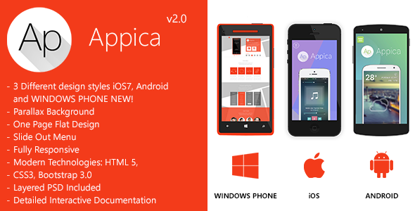 Appica - Responsive App Landing Pages - Creative Landing Pages