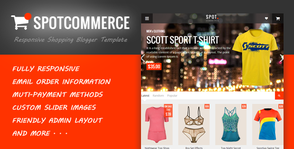 ThemeForest SpotCommerce Blogger Shopping Template 8620221