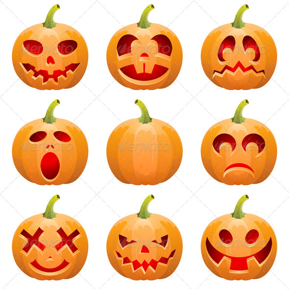 GraphicRiver Collect Pumpkin for Halloween 8654814