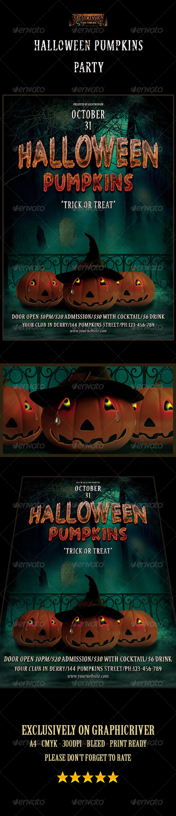 GraphicRiver Halloween Pumpkins Party 8654914